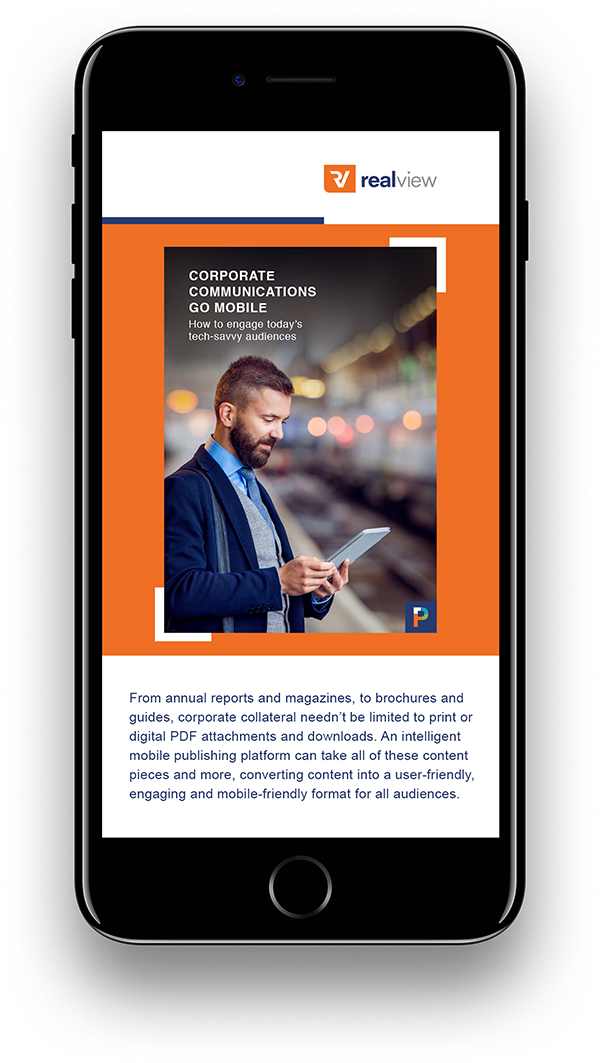 Corporate Comms Go Mobile Landing Page